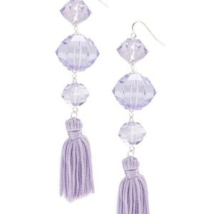 BRAND NEW Faux Gem Tassel Earrings